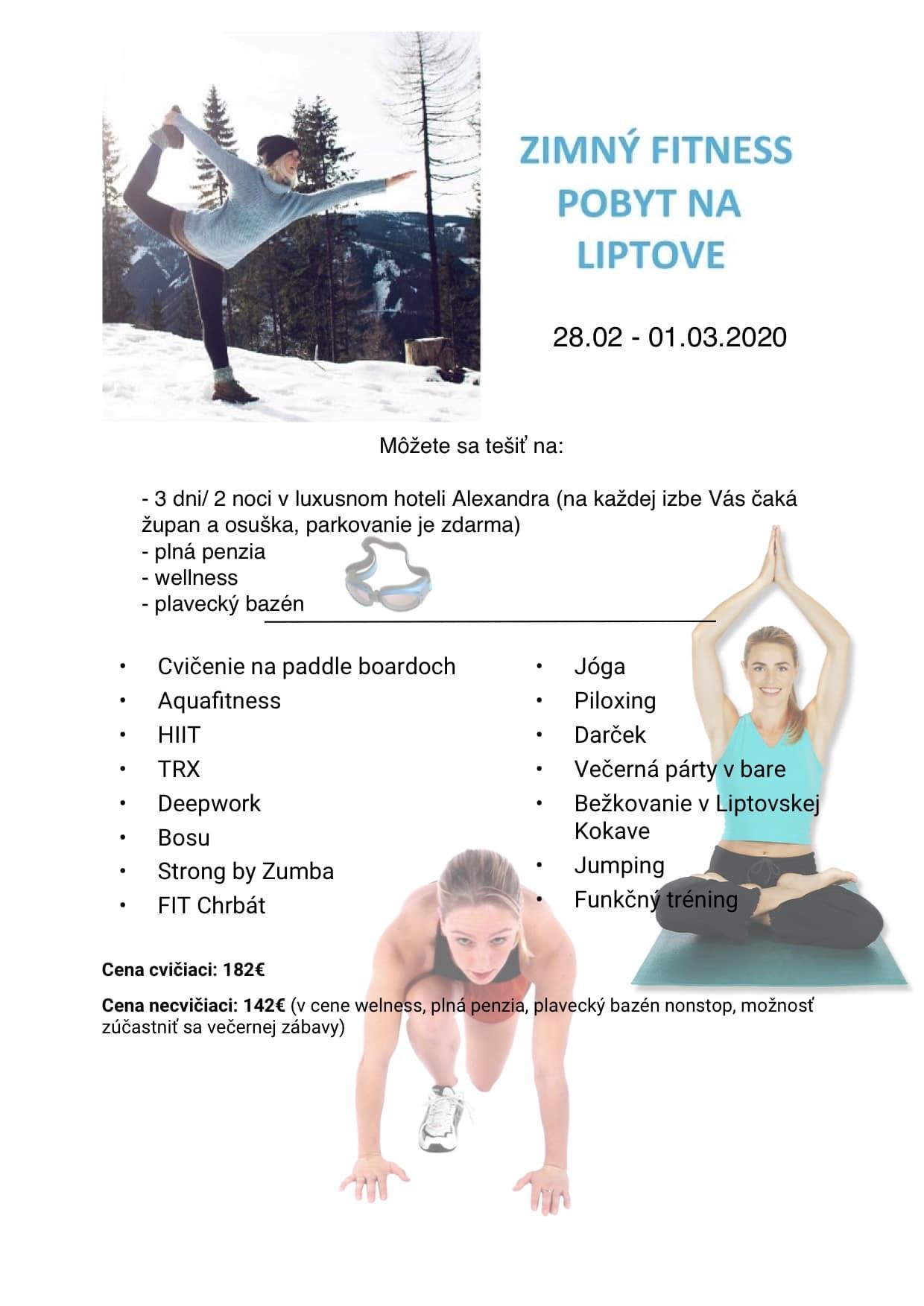 fit-zona - zimny fitness pobyt liptov
